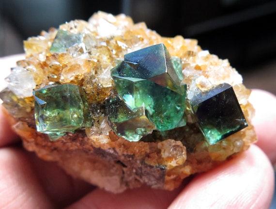 Quartz with color change Fluorite. Diana Maria mine, Autumn Pocket, Waredale, Co. Durham, U.K. 2 inch