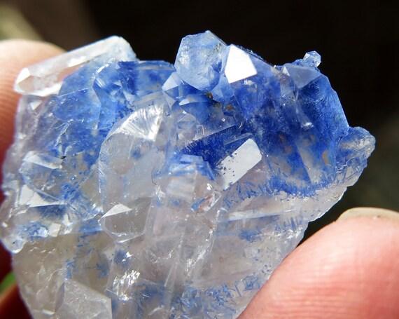 Heavy included Dumortierite crystal cluster with needle formations. Vaca Morta Quarry, Serra da Vereda, Boquira, Bahia, Brazil