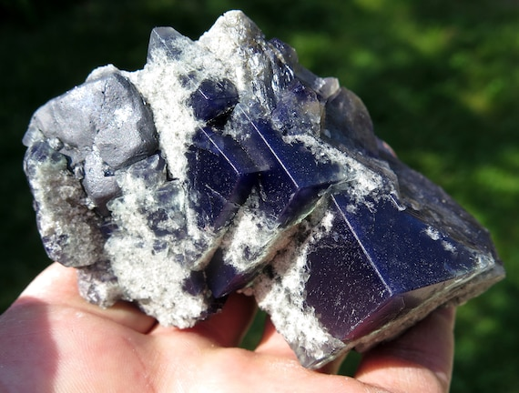 """Excellent quality Color change Fluorite with Galena. Milky Way Pocket. Diana Maria mine, Frosterley, Weardale County, Durham, England. 3.75"""""""
