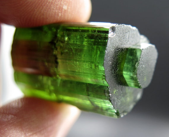 Collect Unusual Tourmaline? A periscope Termination Elbaite Crytal at 13.6 grams MG Brazil 1960's