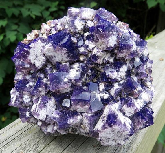 "Limited find, ""Purple Haze"" pocket 2018, Large cabinet Color change Fluorite. Diana Maria mine, Weardale, Co. Durham, U.K. 3.8 pound"