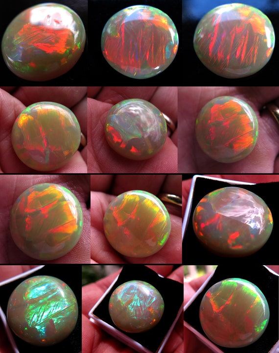 One High flash Polished Wolo Opal. Ethiopia. 21 Carats