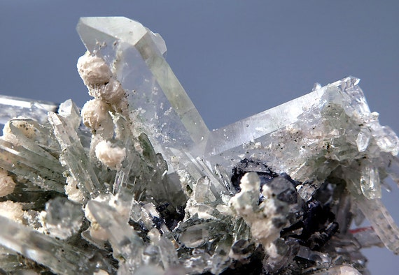 HIGH END COLLECTOR. Quartz with Calcite and Galena. Japan Law Twin. Large size 3.5 inch Bulgaria