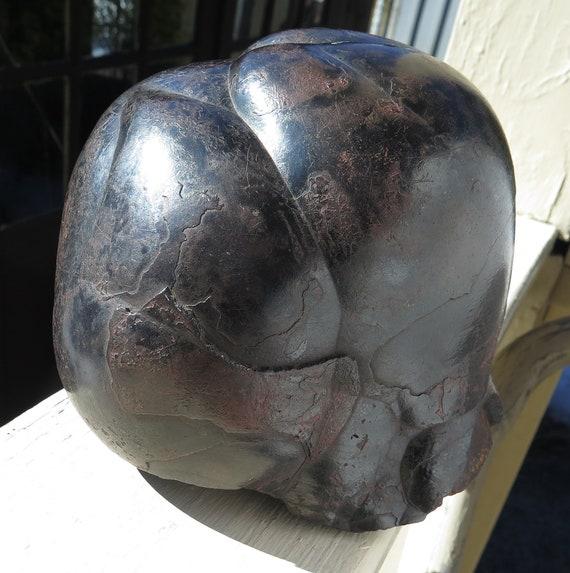 Historic Ex. WM Creighton Museum. Massive Hematite 17 pounds 6.6 ounce. Mined 1940's. Hodbarrow Mine, Millom, Copeland, Cumbria, England, UK