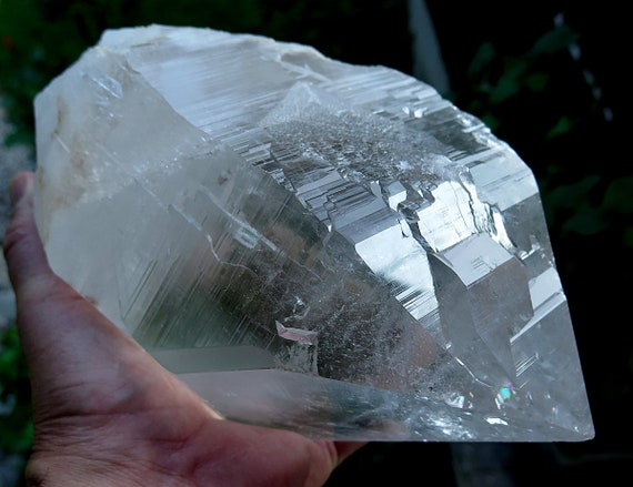 10 pound 2 oz. High Altitude Himalayan Crystal Quartz Point with 2 chlorite sides and a internal flower veil. USA only