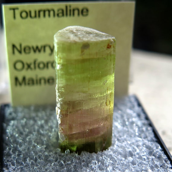 6.3 Gram Pink and a touch of green Toumaline mined 1980's from Newry Maine