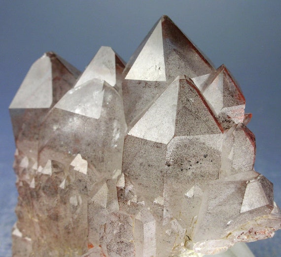The Red Phantom King. A Castle Quartz Crystal cluster with Hematite, from the Orange River, Namibia. 100% Crystallized Floater