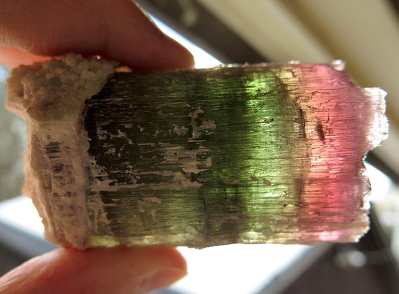 288.2 gram etched watermelon tourmaline, California USA