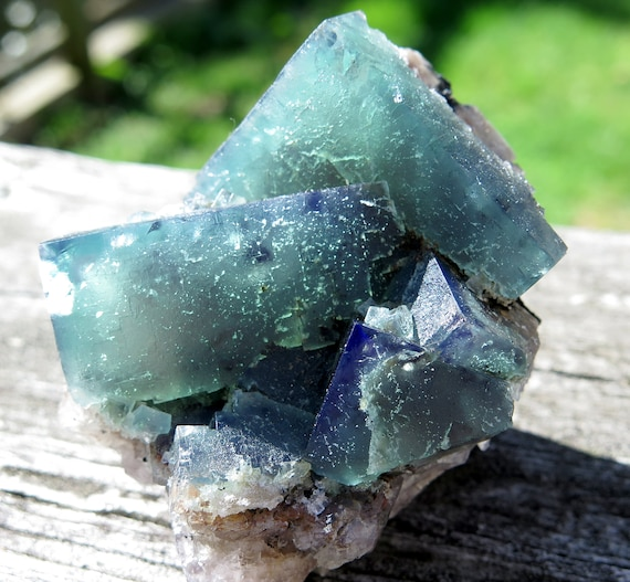 Color change Fluorite. Poison Ivy Pocket, Lady Annabella mine, Eastgate, Wesrdale Co., Durham, England. 3 inch 10.5 ounce