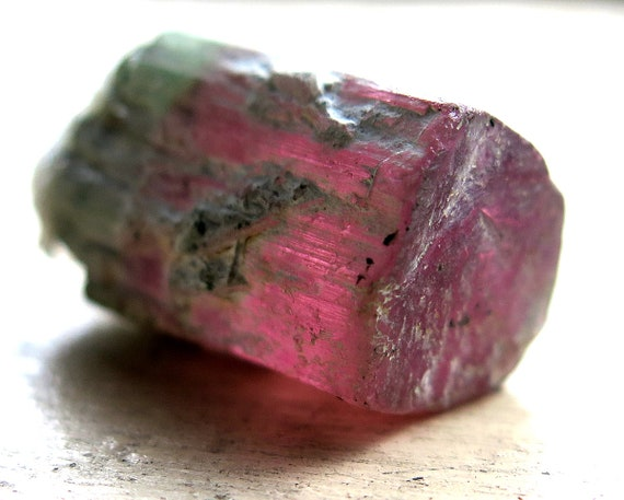 8.8 Gram Pink and light green Toumaline with a perfect top termination from Newry Oxford Co., Maine