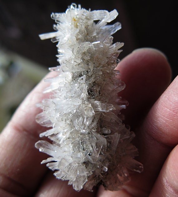 Hemimorphite Stalactite from Potosi Mine Level 14, Santa Eulalia, Chihuahua, Mexico