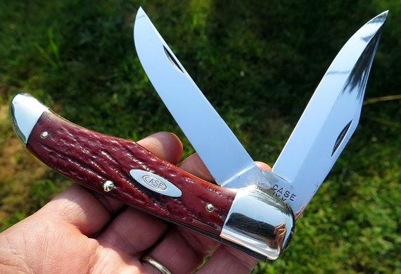 Case XX 1940-64 True Red bone handle Folding Hunter 6265 SAB Nice
