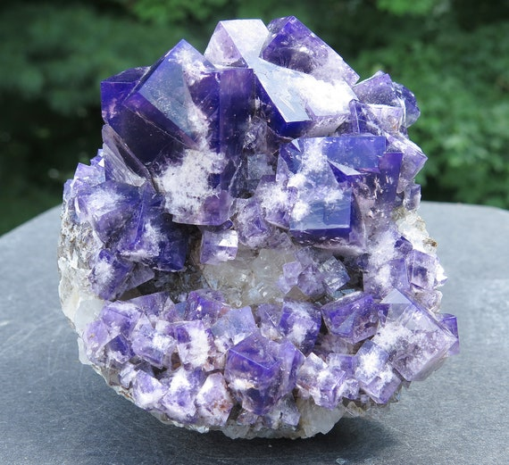 "Our finest from a Limited find, ""Purple Haze"" pocket 2018, Color change Fluorite. Diana Maria mine, Waredale, Co. Durham, U.K. 1.9 pound"
