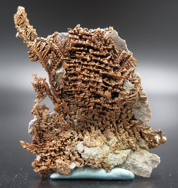 Intracate Copper from the Thomas Collection, New Cornelia Mine, Ajo, Pima County, Arizona, USA
