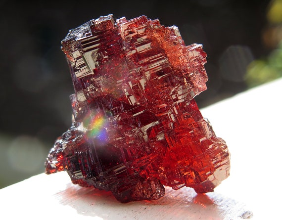 Spessartine Garnet. Navegadora claim. 14.7 grams. Excellent high luster and condition. The crystal is a no damage floater