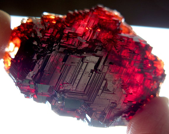 A Gem natural High Luster 63.6 Gram Spessartite Garnet, Serra do Navegador Mine Brazil
