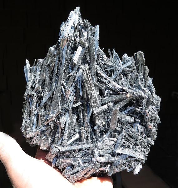 Large cabinet lustrous Stibnite. Wuning Mine, Qingjiang, Wuning Co., Jiujiang, Jiangxi, China. 4 pound 12.6 ounce