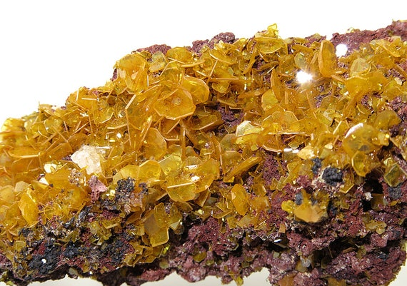 Vintage Collection of Show Wulfenite, Ex. Caroline Les Collection. Mined Silver Bill Mine, Cochise, Co. Arizona