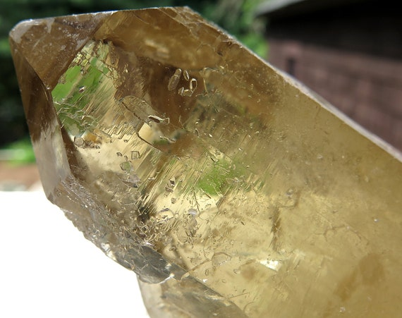 6 inch Natural Gem Citrine Floater Crystal. Mined Piaui Valley mine MG Brazil
