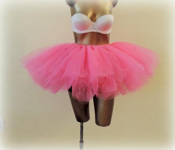 073a725e1f Adult tutu bright pink tutu skirt tulle tutu rave edc raver   Etsy