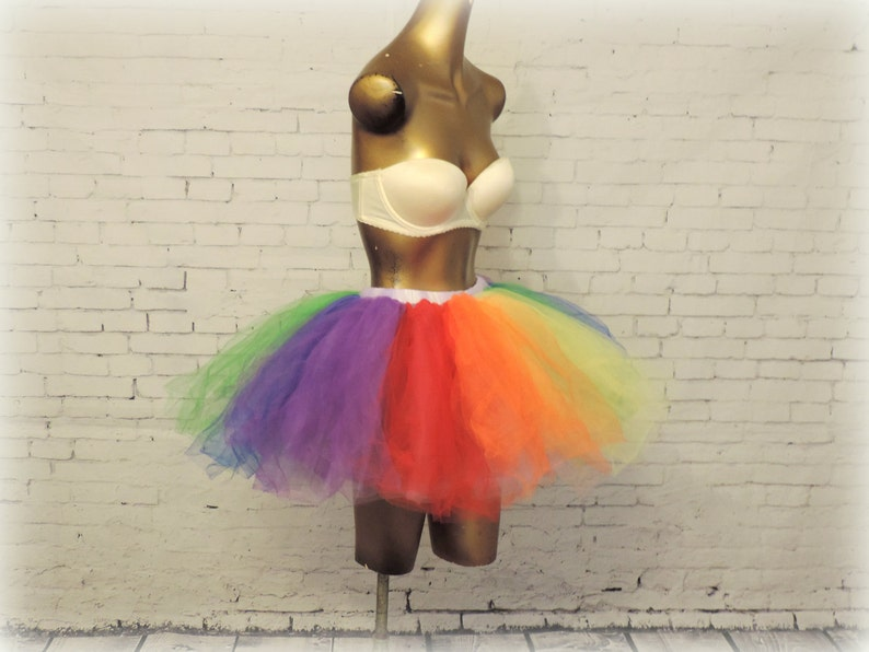 48b1ebf638 Adult Tutu Gay Pride tutu rainbow tutu rave raver tutuedc