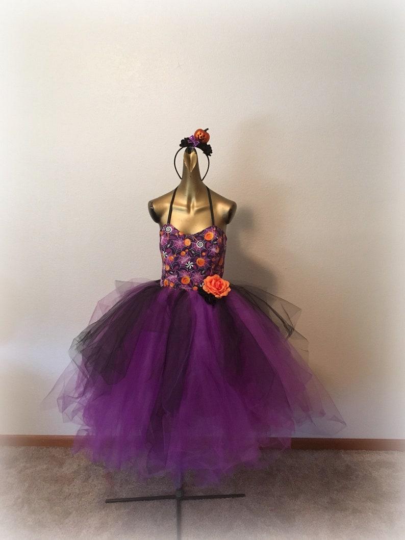 e2104f26b79 Adult tutu dress Halloween dress for women costume for women adult costume  dress pumpkin tutu dress purple orange black Halloween tutu dress