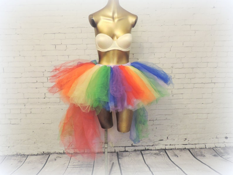 9544b8b6b6 Rainbow high low Tutu adult Gay Pride tutuedc love rainbow   Etsy