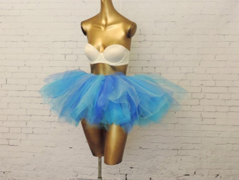 923612471f Adult tutu blue tutu skirt tulle tutu rave edc raver   Etsy