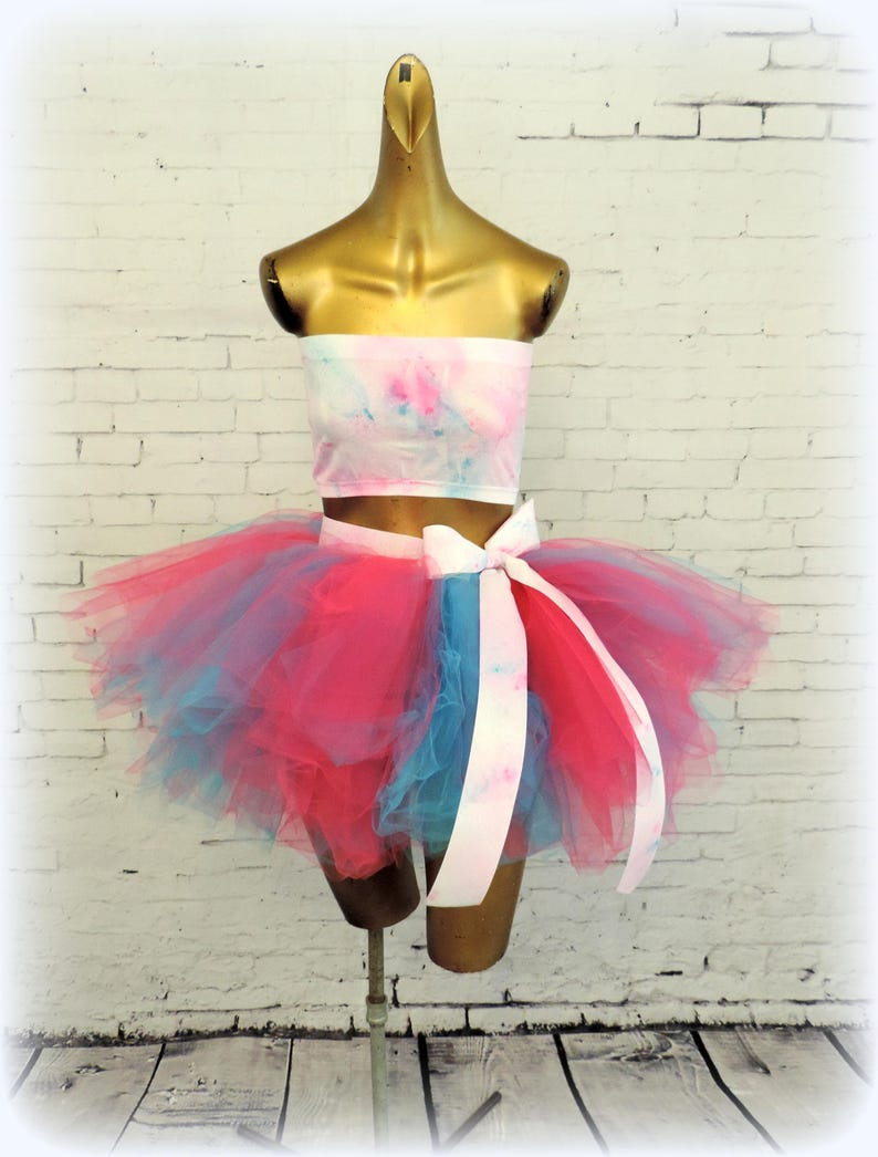 2a398af15a Adult tutu outfit edc rave edm outfit turquoise hot pink   Etsy