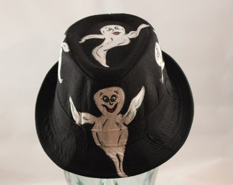 Hand Painted Child's Ghost Fedora