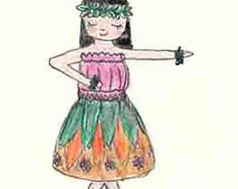 Cute hula dancer - PDF
