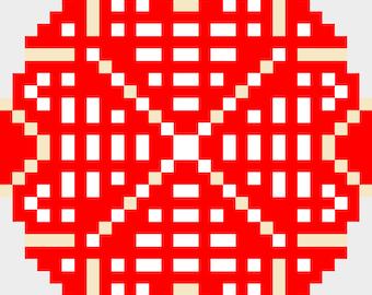 xmas mandala x-stitch counted pattern