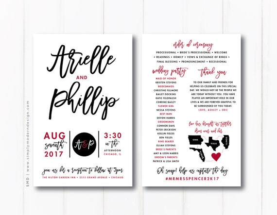 printed programs for events