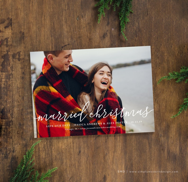 Save The Date Christmas Cards.Save The Date Christmas Card Marry Little Christmas Snowflakes Happy New Year Card Wedding Modern Holiday Printable Or Printed Cards
