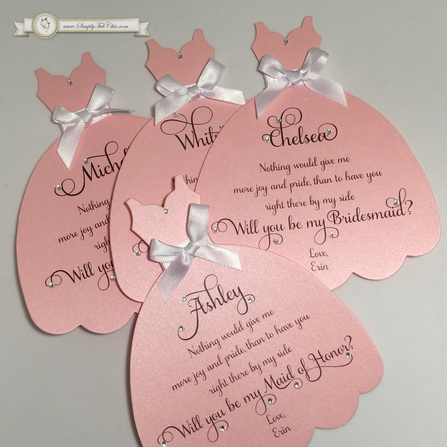 Bridesmaid Or Maid Of Honor Reveal Wedding Invitation