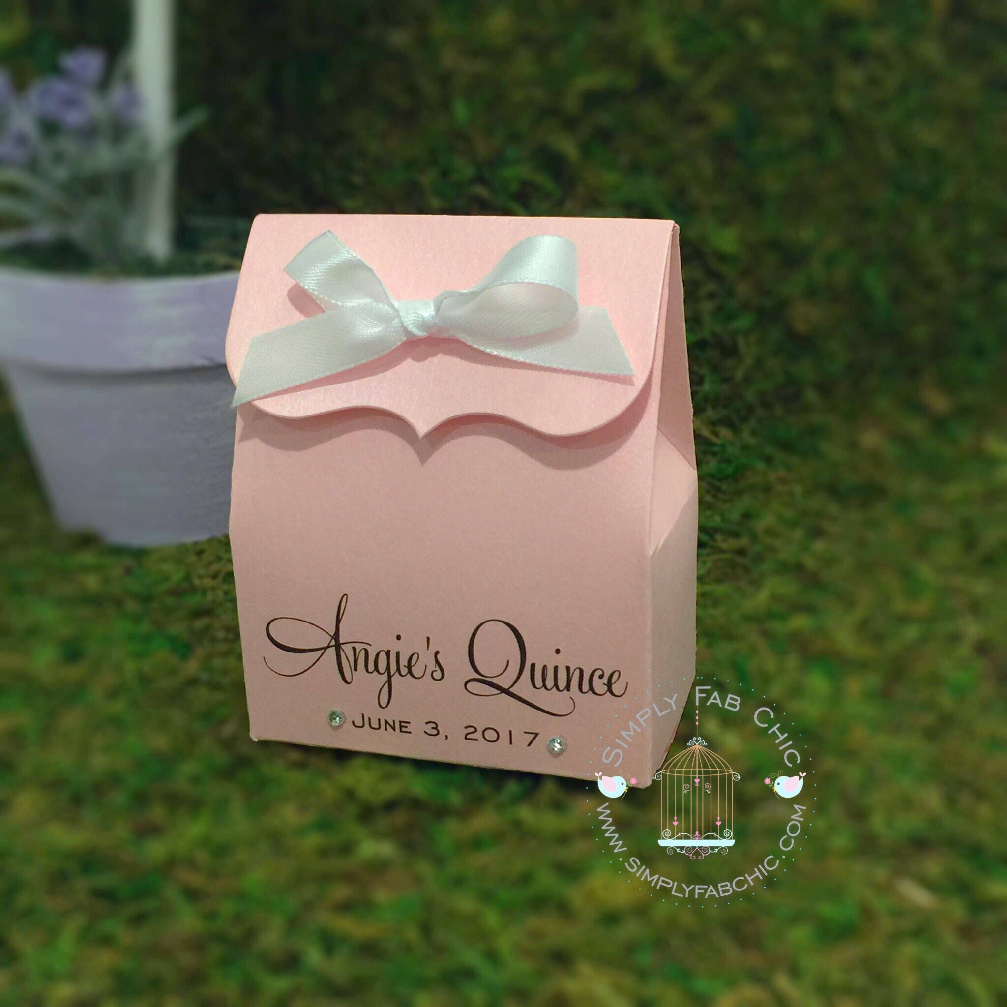 Quinceanera Favor Box Favor Boxes Set of 10 Treat Favors