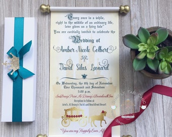 Royal scroll invitation Etsy