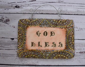 God Bless Plaque