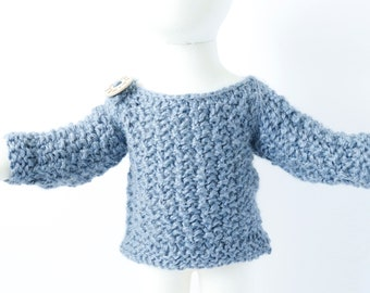 Sweater for Baby Boy Baby Boy Blue Sweater Newborn Baby Sweater Baby Blue Alpaca Baby Pullover Sweater