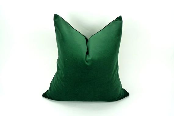 PRÊT à expédier 24 x 24 pouces / / housse de coussin vert des forêts / / forêt coussin en velours vert / / green housse de coussin / / velours vert de chasseur