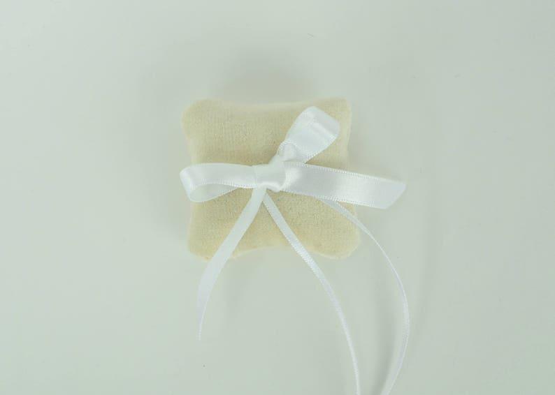 ivory velvet ring pillow  small ring pillow  velvet ring bearer pillow  ivory ring pillow
