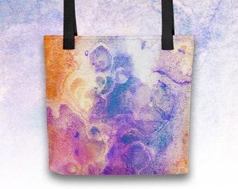 Witchy Green Poison Tote Bag Grocery Bag Fluid Art Bookbag Beach Bag