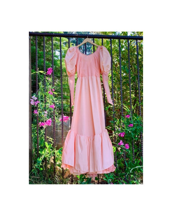 Pink Creamsicle Puff Sleeve Princess Dress