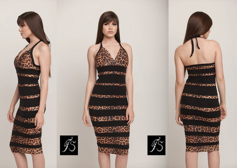 Luxury Bandage Dress Leopard Dress Animal Print Dress  3814e0400