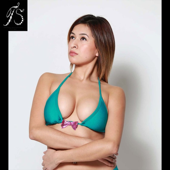 Triangle Bikini Top with Bow Choose Colors Couture ...