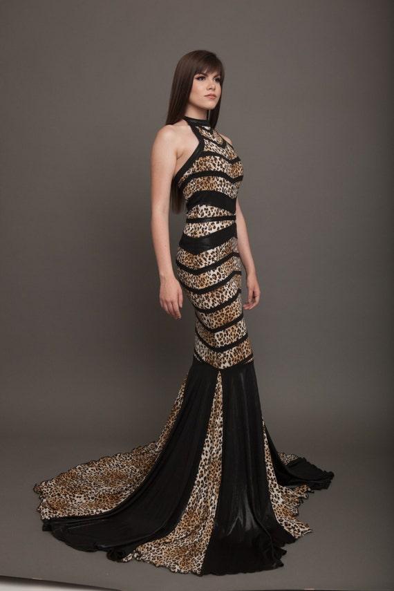 Gown With Train Designer Dress Black Wedding Dress Art Deco Dress Bandage Dress Dress With Train Luxury Wedding Dress Mermaid Dress