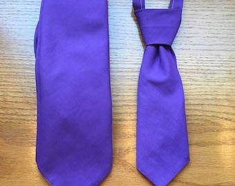 Doubly Dapper matching adult and baby ties