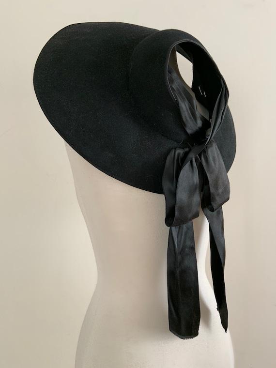 Vintage 1940s 1950s Wool Dress Hat / Vintage 40s 5