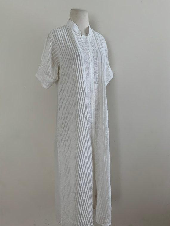 Vintage 1970s Biba White Cotton Tunic / Vintage 70