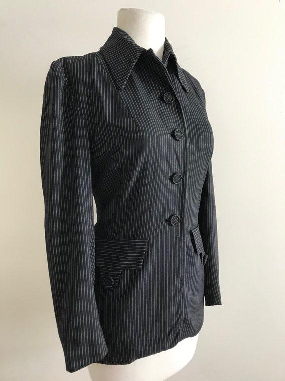 Vintage 1940s Pin Striped Jacket / Vintage 40s Str